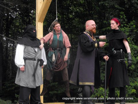 SerahRose performs a scene from Justice Hanging in the Balance